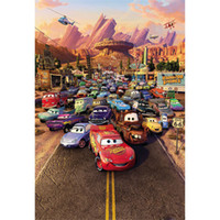 Thème de film Photographie Contexte Cars Racing Kids Contexte de bande dessinée Children Birthday Party Backgrounds for Photo Studio