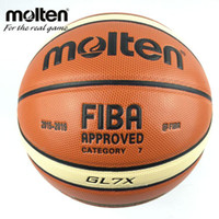 Wholesale Basketball Ball Size - New Season 2015-2019 Official Original Molten Basketball Ball GL7X Ball NEW Arrival Molten PU Size 7 Basketball Gifts Net Needle
