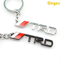 Wholesale Toyota Trd Logo - Car keyrings auto logo TRD emblem badge for toyota corolla avalon camry echo prius supra Keychain key holder