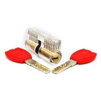 Wholesale Double Cutaway - Kaba Lock Transparent Cutaway Inside View Practice Padlock Super C-class Double Curve Pick Of Training Skill for Locksmith Set