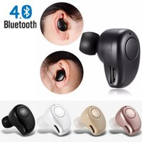 Black Blutooth Headset Microfone Mini S530 Plus Fone de ouvido Micro Earpiece Sport Music Stero música Headset Retail Box para iphone7plus iphone8