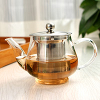 Wholesale Kettle Sets - 600ML High-capacity Stainless Steel Heat Resistant Hyaline Glass Teapot Coffee Tea Set Puer Kettle With Filter Durable Tea Sets