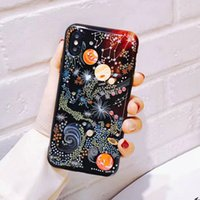Wholesale Black Magic Paint - Magic sky painted silicone phone case for iPhoneX 6 7 6S 7plus TPU soft cover for iPhone8 8plus