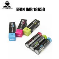 mod bataryaları yüksek drenaj toptan satış-100% Orijinal EFAN IMR 18650 3000 3100 3500 mAh 60 40 25A 3.7 V 510 konu için Yüksek Tahliye Şarj Edilebilir Pil Kutusu Mods
