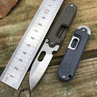 Wholesale Ball Bearing Keychain - Bean serge S35VN blade olde Titanium handle ball bearing keychain buckle outdoor camping survival EDC tool gear mini folding pocket knives