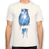 Wholesale Owl Top Men - owl New Fashion Man T-Shirt Cotton O Neck Mens Short Sleeve Mens tshirt Male Tops Tees Wholesale