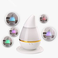 Wholesale Led Water Atomizer - Air Humidifier Water Drop LED Light Aroma Fogger Atomizer Ultrasonic Humidifier Diffuser Mist Maker for Home Mini USB Humidifier