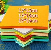 Wholesale Paper Folding Crafts - 300pcs 12*12cm 13*13cm 15*15cm 10 colors Origami Paper Double Face Handmade Folding Paper for Craft Punch Craft Paper Tools Christmas Gift