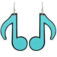Wholesale Music Note Stud - New Fashion Colorful Acrylic Music Note Drop Long Hanging Earrings Designer Brincos For Women