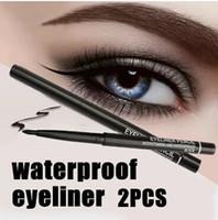 eyeliners étanches achat en gros de-Vente en gros - Vente chaude! 2 pcs / lot Femmes Étanche Rétractable Rotatif Eyeliner Stylo Eye Liner Crayon Maquillage Cosmétique Outil 131-0229 livraison gratuite