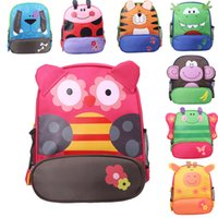 Wholesale Animal Zoo Backpacks - Free DHL Cute Zoo Animal Baby Preschool Backpack Children Toy Shoulder Bag Kids Cartoon Schoolbag Gifts