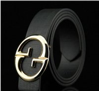 Wholesale Korea Style Male - 2017 New Arrival Korea Style High Quality Hot Selling Fashion Designer Brand Imitation Leather Belt double G buckle for Male Female AOP--00