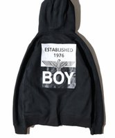 Wholesale cashmere zip cardigan - New pattern High quality kanye west black and white printing hoodie tide brand lon don boy zip cashmere hip hop Lovers clothing