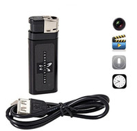 Wholesale Hd Lighter Camera - Mini HD-DVR Lighter Pinhole Camera Spy Hidden camera USB Mini DV Lighter DVR Camera Video Recorder Cam Camcorder