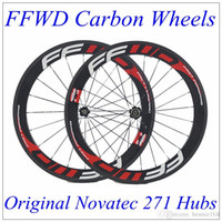 Wholesale Matt Black Wheel - FFWD Carbon Wheels 700C 60mm Depth 23mm Width Clincher Tubular 3K Matt Full Carbon Wheelset With Novatec 271 Hubs Black 20 24 Spokes