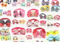 Wholesale Dog Bow Ties For Weddings - 60pcs Mix loaded !! Handmade Fashion Pet Dog Tie Grooming Bowknot Ties For Dogs 6011008 Pet Accessories Wholesale
