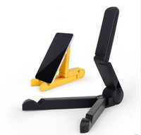 Wholesale folding smartphone stand for sale – best phone holder Universal Foldable Portable Mini cell phone Stand for smartphone iphone samsung s8 Folding stand holder