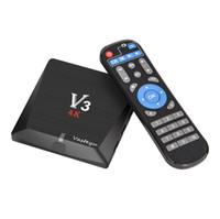 Wholesale Tv Box V3 - V3 TV BOX 2GB 8GB EMMC Android 6.0 RK3229 Quad-Core 2.4G WIFI 3D 4K*2K HD KD 17.3 Smart Media player
