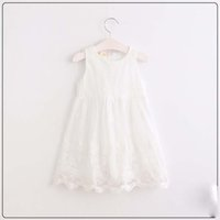 Summer organza trim - Everweekend Girls Organza Lace Trimmed Floral Embroidered Dress Sweet Baby Candy Color Pink and White Princess Summer Party Clothing