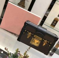 Wholesale Mini Lock Box - Free shipping!Hot Selling Wholesale Designer Box Luxury Handbags Evening Bags Leather Fashion Box Clutch Brick Famous Messenger Shoulder Bag