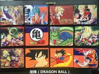 Wholesale Thin Korean Girls - Japanese Cartoon Wallet Hasp Dragon Ball Z Wallet For Teenager Boy & Girl Ultra Thin Short Anime Wallet Purses Sun Goku