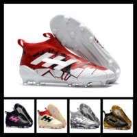 Wholesale Open Fabric Toe Boots - ACE 17+ Purecontrol FG Dragon Limited Edition football boots Pogba Schwarz,Pogba Soccer Shoes,mens Soccer Cleats Messi Training Sneakers
