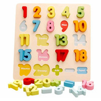 Wholesale Learning Numbers - Wooden Alphabet Numbers Educational Learning Puzzle For Children Kids Toddler Toy New Brand New Style Popular