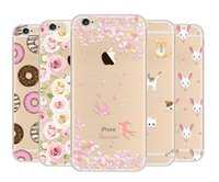 Wholesale Tattoo Case Set - For Iphone7 case Phone Shell Gift Painted For Iphone 6 Plus Mobile Sets Creative Mobile tattoo Lovely Ultra thin