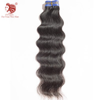 Wholesale Brazilan Hair - High Quality Brazilan natural Wave Hair Extensions 100% Virgin Unprocessed Natural Black Human Hair Weaves 1pcs lot