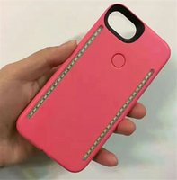 Wholesale Double Sided Iphone Case - Newest LED Light phone Cases Phone Double Sides Light Battery Case For iphone 7 6 6s plus Note 7 With Retail Package