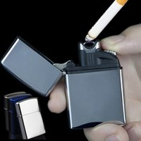 Wholesale Ectronic Cigarette - Dual Arc Lighters USB Charging Windproof Flameless Ectronic Personality Creative Metal Arc Lighter Cigarette Men Gifts Colorful
