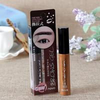 Wholesale Eyebrow Dye Color - 6pcs Korean Cosmetics Waterproof Long-lasting Peel Off Dye Eyebrow Gel Cream 6g