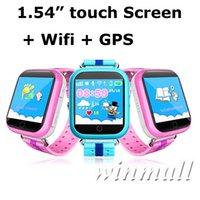 Wholesale android wifi touch watch phone online – Q750 Kids Smart Watch GPS Wifi LBS Monitor Locator Watch Phone Inch Touch Screen Mangnetic Charger Location Device Tracker