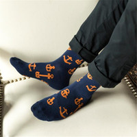 Wholesale Fun Socks Men - 2016 new fall and winter fun anchor in the tube men socks