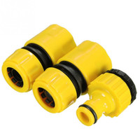 Wholesale Hose Pipe Fitting - 3PC ABS plastic Hose Pipe Fitting Set Quick Yellow Water Connector Adapter Garden Lawn Tap