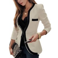 Wholesale Blazer S - Office Women Slim Suits Jack V-Neck Long Sleeve Autumn Coat Single Breasted Casual Outerwear