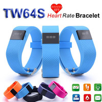 Wholesale Wireless Heart Rate Monitor Sport - TW64S TW64 Fitbit Flex Smartband Charge HR Activity Wristband Wireless Heart Rate Monitor Pulse OLED Display Sport Smart Band Bracelet JW86
