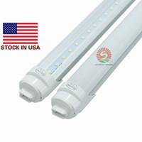 Wholesale Shipping Tubes Wholesale - Stock Free Shipping 25pcs lot 8Ft LED Tube Super Bright 45W 5000Lm R17d 8Ft T8 LED 8 Foot Pure White Bulbs 5000K-5300K