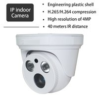 Wholesale Ip Camera Poe Wireless - 4MP Mini IP Camera HD Network IR security Dome Camera H.265 H.264 IPC ONVIF MegaPixel indoor surveillance camera Support POE ann
