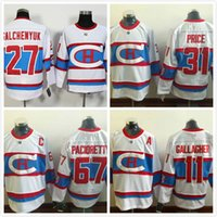 nhl jersey barato al por mayor-Cheap NHL Montreal Canadiens # 11 Brendan Gallagher 31 Carey Precio 27 Alex Galchenyuk 67 Max Pacioretty 79 Andrei Markov blanco Hockey Jerseys