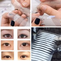 Wholesale Thin Clear Double Sided Tape - Wholesale- 480X White Eyelid Sticker Double Eyelid Tapes Thin Invisible Double-sided Clear Adhesive Makeup Tools