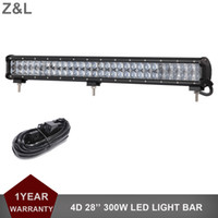 28 Inch Offroad 300W LED Light Bar 12V 24V Driving Lamp Truck Trator Trator SUV Barco 4X4 4WD UTE ATV Auto Headlight
