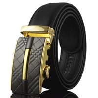Wholesale Narrow Trousers - Wholesale- Good Quality Mens Belts Luxury Brand Belt Black Genuine Leather Belt Men Accessories Casual Trouser Belt ceinture homme Q134