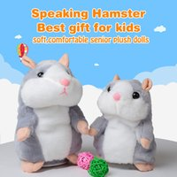 Wholesale Teddy Time Toys - Cute Walking Russian Talking Hamster Wooddy Time Stuffed Plush Animal Dolls Speaking Kid Educational Toy Repeat Sound Language