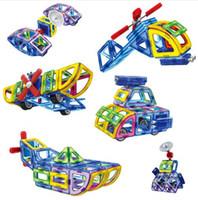 Wholesale Enlighten Aircraft - smart toy good boy Magnetic Designer Educational Building Blocks Police Series Aircraft Plastic Assemble Enlighten Bricks Toys Kids Gift