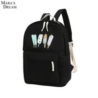 Vente en gros - Mara's Dream Fashion Backpack Ice Cream Imprimé Cute Candy Color Zipper Cartoon Traveling Teenager school bag Sac à dos d'attaque
