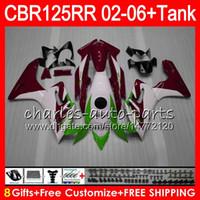Wholesale Dark Red Tank Top - 23Colors Body +Tank For HONDA TOP Dark red CBR125 R CBR 125R 125RR CBR125R 02 03 04 05 06 80NO40 CBR125RR 2002 2003 2004 2005 2006 Fairing
