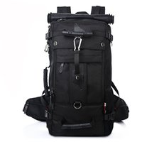 Wholesale Backpacks Army - KAKA Backpack Outdoors Camping Hiking Backpack Shoulder Satchel Bag 40L Black,Army Green,Camouflage