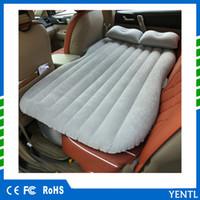 asientos inflables al por mayor-Cama de viaje inflable del colchón de aire del coche Cama del viaje del asiento trasero Cama de aire inflable del colchón Cama inflable de coche de la buena calidad para acampar proveedor de China