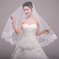 Wholesale Single Layer Veil Bridal Lace - The New Fashion Bride 1.5 M New Single-Layer Lace Veil Han Edition Special Wedding Accessories